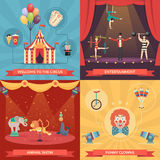 Circus Show 2x2 Design Concept Royalty Free Stock Photography
