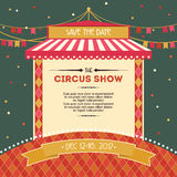 Circus Shower Card Design with tent Royalty Free Stock Images