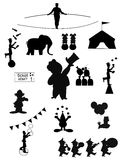 Circus silhouettes Stock Image