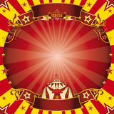 Circus square red and yellow Royalty Free Stock Photography