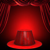 Circus stage. Background with circus stage and spotlight royalty free illustration