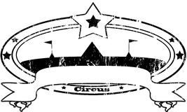 Circus stamp Stock Images
