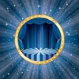 Circus star burst blue Royalty Free Stock Image