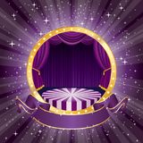 Circus star burst purple Stock Photography