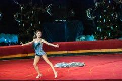 Circus Stars perform focus dress ups Stock Image