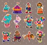 Circus stickers vector illustration