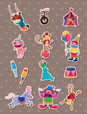 Circus stickers. Cartoon vector illustration Royalty Free Illustration