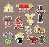 Circus stickers. Cartoon vector illustration Royalty Free Stock Images