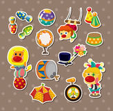 Circus stickers Stock Photos