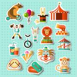 Circus stickers set Royalty Free Stock Photo