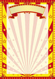Circus stripped poster Royalty Free Stock Photos