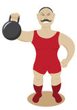 Circus strongman Royalty Free Stock Image