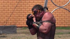 Circus Strongman stock video footage