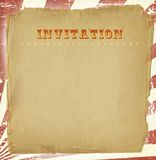 Circus Style Invitation Royalty Free Stock Photo