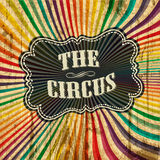 Circus sunbeam pattern background. Royalty Free Stock Images