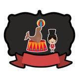Circus tamer cartoon. Icon vector illustration graphic design Royalty Free Stock Photography