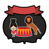 Circus tamer cartoon Royalty Free Stock Image