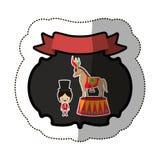 Circus tamer cartoon Stock Photo
