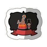 Circus tamer cartoon. Icon vector illustration graphic design Stock Images