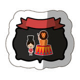 Circus tamer cartoon. Icon vector illustration graphic design Royalty Free Stock Photos