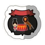 Circus tamer cartoon Stock Image