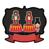 Circus tamer cartoon. Icon vector illustration graphic design Stock Image