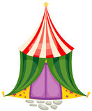 Circus tent. Illustration of isolated  a circus tent on white background Royalty Free Stock Photography