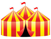 Circus tent. Illustration of a circus tent on white background Stock Images