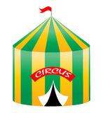 Circus tent. Illustration of a circus tent on white background vector illustration