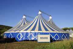 Circus tent. Circus big top and country landscape Stock Images