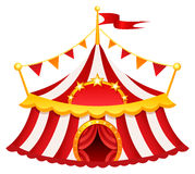 Circus tent. Illustration of a circus tent Stock Photos