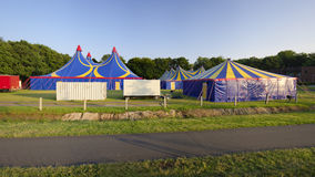 Circus tent. Several circus tents in warm sunset light Stock Photography
