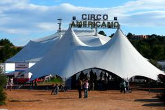Circus Tent. The Circus comes to town Stock Photography