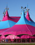 Circus Tent. Exterior of a circus tent setup for a show Stock Photo