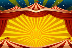 Circus Tent Background. A vector illustration of a circus tent background Stock Photo