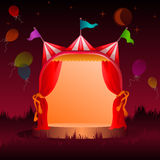 Circus tent with balloons at night Royalty Free Stock Photo
