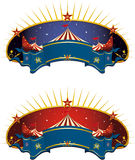 Circus tent banner Royalty Free Stock Photos