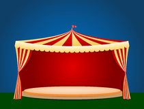 Circus tent with blank podium for your object or text Royalty Free Stock Photos