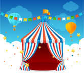 Circus Tent Card. Vector Royalty Free Stock Image