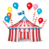 Circus tent with celebration balloons Stock Photography