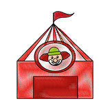 Circus tent with clown. Vector illustration design Stock Image