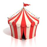 Circus tent 3d illustration Royalty Free Stock Images