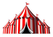Circus Tent. Design element as a group of big top carnival tents with an opening entrance as a fun entertainment icon for a theatrical celebration or party royalty free illustration