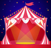 Circus tent entertainment background Stock Image