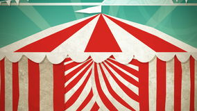 Circus Tent Entrance. Dynamic graphic animation using paper cutout styled elements to illustrate a circus tent opening. High definition 1080p. Paper Cutout __