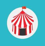 Circus tent flat icon design Royalty Free Stock Photo
