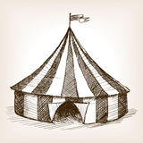 Circus tent hand drawn sketch vector Royalty Free Stock Photography