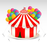 Circus Tent illustration. Beautiful illustration of the circus tent with the balloons Stock Photography
