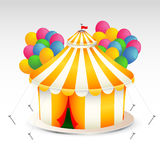 Circus Tent illustration. Beautiful illustration of the circus tent with the balloons Stock Images