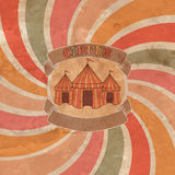 Circus tent illustration Royalty Free Stock Photo